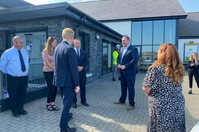 UK Digital Secretary visits Portballintrae Community Centre
