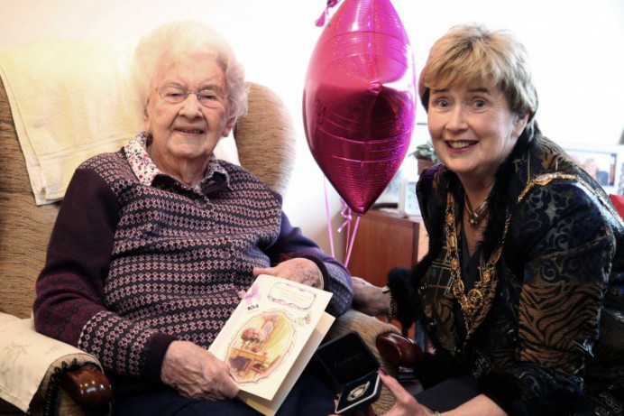 104th birthday celebrations for Isobel Foster in Coleraine