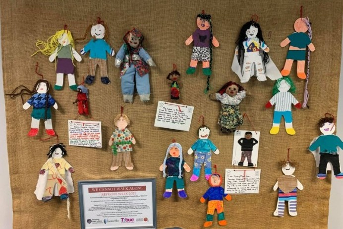 Textile banner display at Roe Valley Arts and Cultural Centre showcases Brighter Days Ahead