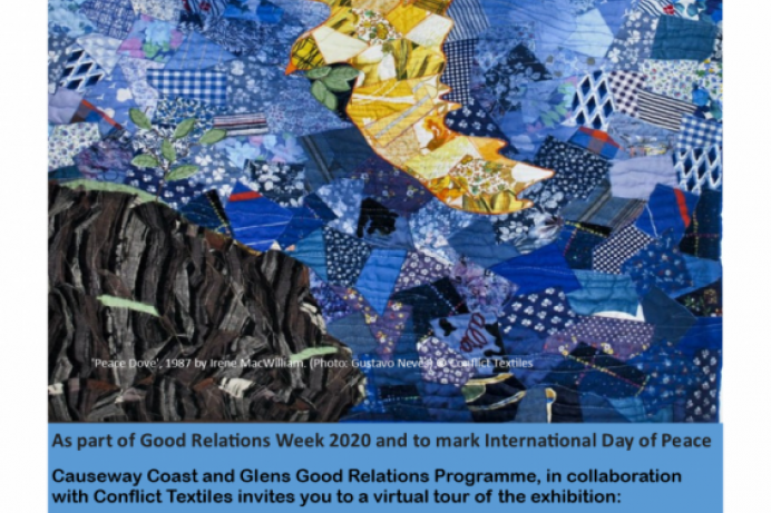 Virtual tour of Conflict Textiles exhibition to take place during Good Relations Week