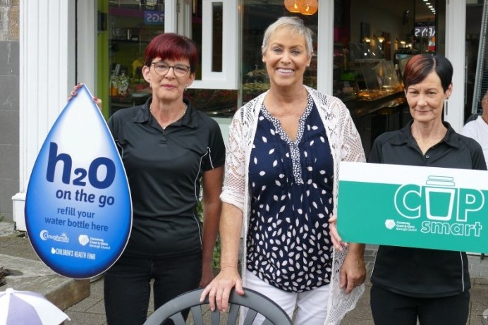 Sign up now to 'CupSmart' and 'H20 on the Go' to help cut single use plastic waste