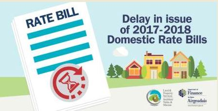 Delays in issue of Rate Bills for 2017 / 2018