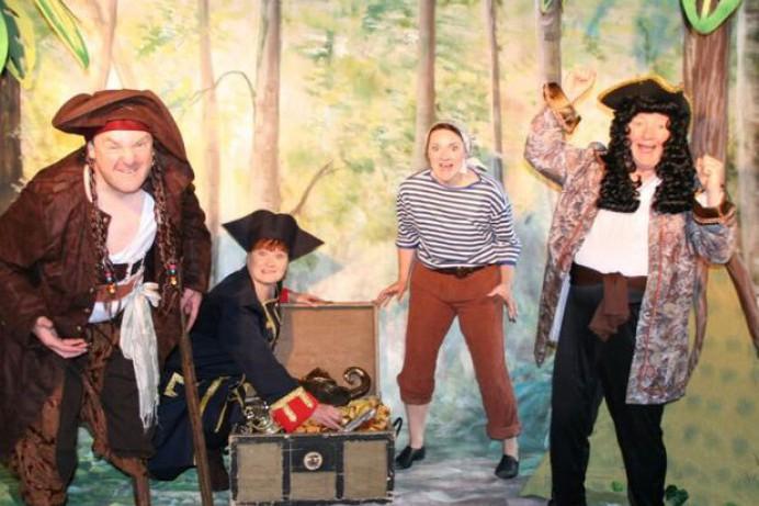 Stage set for children's classic 'Treasure Island'
