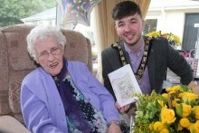 Mayor joins 100th birthday celebrations for Isa Edmondson