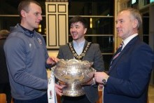 Mayor's reception for Coleraine FC following League Cup win