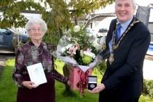 Limavady centenarian Dorothy Cunningham receives centenary civic gift