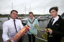 Mayor's reception held for water rescue pair