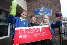 First 'Plastic Smart' award presented to Hezlett Primary School