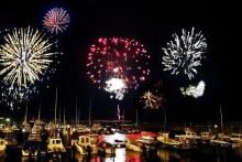 Fireworks display marks the start of the Auld Lammas Fair in Ballycastle